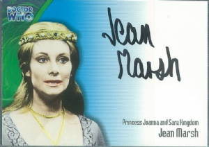 Doctor Who JEAN MARSH as Princess Joanna and Sara Kingdom  AUTOGRAPH CARD AU5, Strictly Ink -  10643
